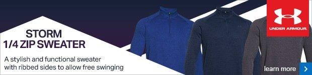 UA Storm 1/4 zip sweater
